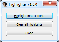 Highlighter v1.0.0 GUI
